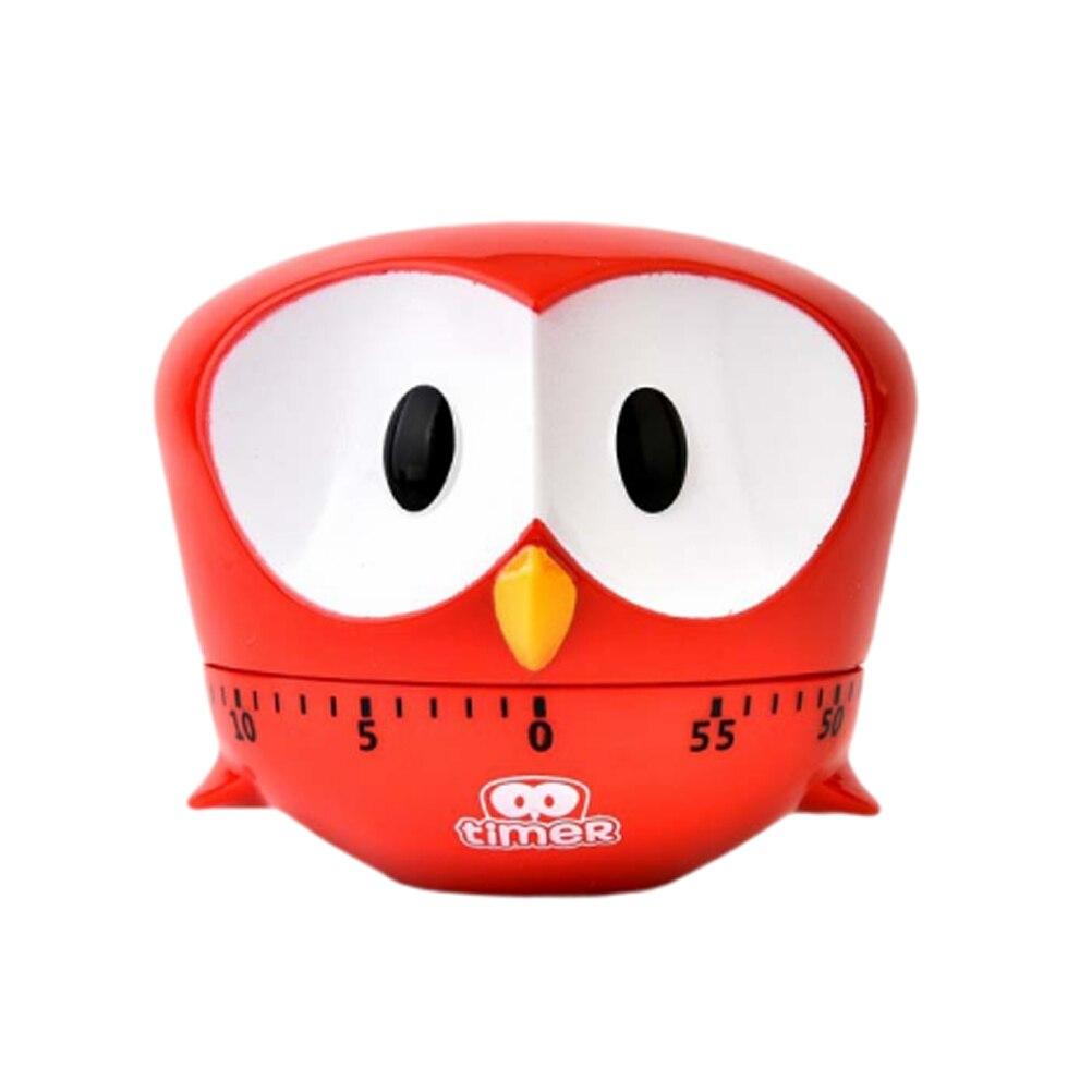 Творческий мультфильм испечь для приготовления таймер фиолетовый большой глаз орла в форме кухни механический таймер - Цвет: Red