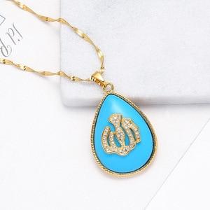 Image 3 - Urkish Lira Coin New Allah Necklaces for Women/Girls Traditional Nation Arab Jewelry Turkey Iraqi Muslim Pendant