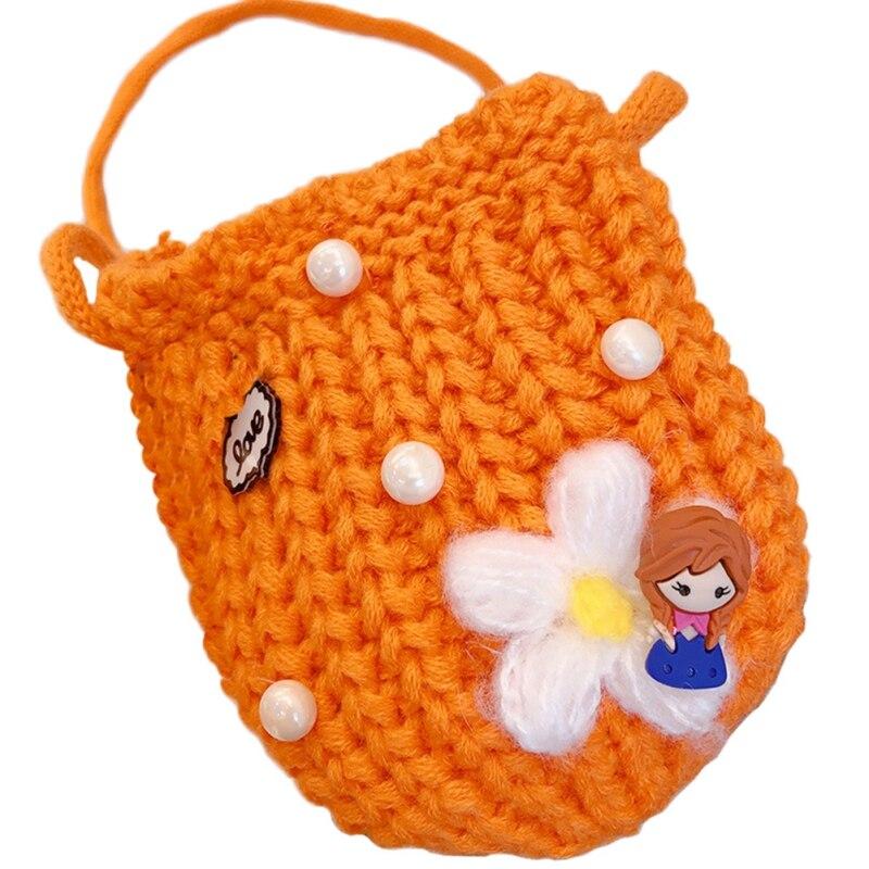 Детская сумка для девочек с милым мультяшным жемчугом, Вязаная Детская сумка через плечо, сумки через плечо, сумка-мессенджер - Цвет: O