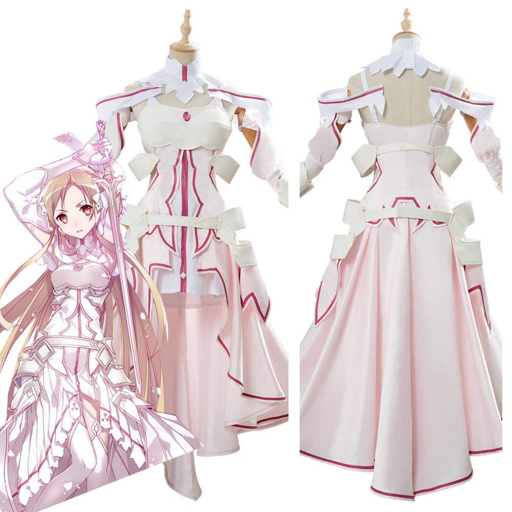Sword Art Online SAO Alicization Yuuki Asuna Cosplay Costume Dress Halloween Carnival For Women Girls