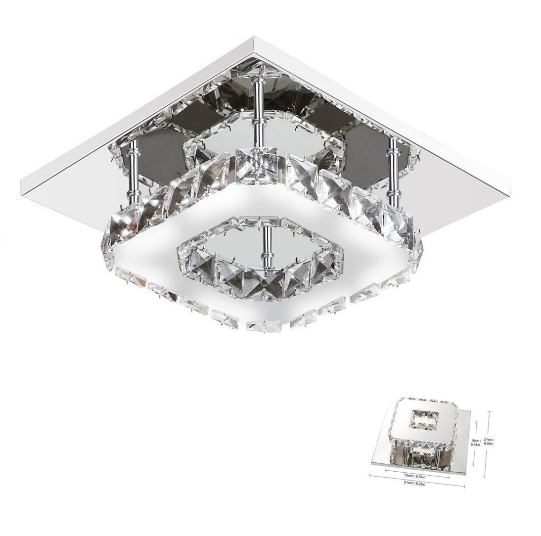 Cross Border LED Square Crystal Ceiling Lamp Aisle Lights Modern Minimalist Corridor Entrance Balcony Lamps Lighting