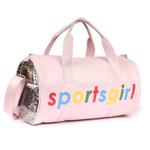 Fashion PU  Waterproof Travel Luggage Bag Girl Sport Fitness Crossbody Sequin Handbag Large Capacity Shoulder Bags For Women Bag