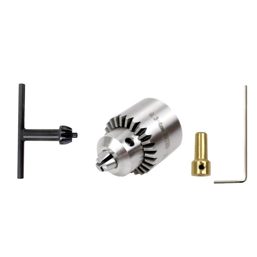 Hot Electric Drill Grinding Mini Drill Chuck Key Keyless 4 Pcs Dropship 0.3-4mm Drill Chuck Mini Electric Drill Chuck