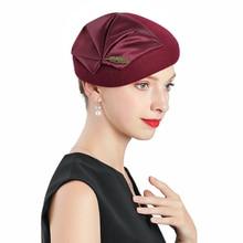 Lady Winter Berets Hat Painter Style Women Wool Vintage French Artist Warm Beanie Walking Cap