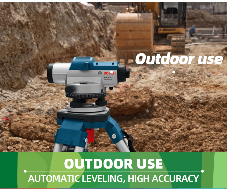 Outdoor usage of Bosch Optical Laser Level
