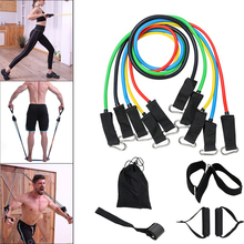 Sport Equipment  Gym Fitness Latex Resistance Bands Crossfit Training Body Exercise Yoga Tubes Pull Rope Chest Expander Pilates