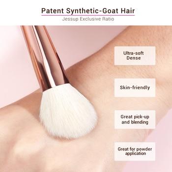 Jessup Makeup brushes set 6-25pcs Pearl White / Rose Gold Professional Make up brush Natural hair Foundation Powder Blushes 4