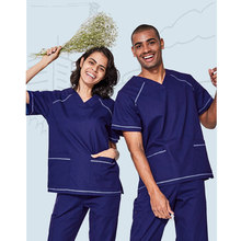 NEW Medical Suit Uniform for Women and Men Hospital Medical Scrub Clothes Uniform Fashion Design Slim Fit Breathable Whole Sale(China)