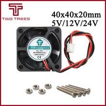 Impressora 3d parte 4020 dc ventilador de refrigeração 5v/12v/24v sem escova rolamento mini refrigerador 40mm ventilador radiador 40x40x20mm alta qualidade 40*40*20