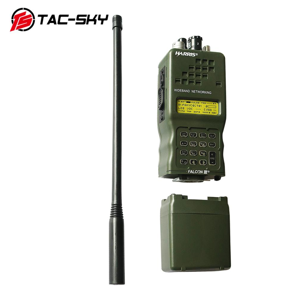 TAC-SKY Military Tactical Headset Walkie-talkie Simulation Model Harris AN / PRC152 152A Virtual Chassis