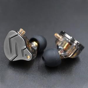 Image 2 - KZ ZSN Pro In Ear Earphones Hybrid technology 1BA+1DD HIFI Bass Metal Earbuds Bluetooth Sport Noise Cancelling Headset Monitor