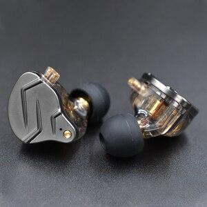 Image 2 - KZ ZSN Pro w ucho słuchawki Hybrid technologii 1BA + 1DD HIFI bas metalowe słuchawki douszne Bluetooth Sport z redukcją szumów zestaw słuchawkowy monitor