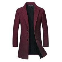 Nueva sección de moda para hombres Boutique de Color sólido de negocios Casual pantalones de lana abrigo masculino Vintage Slim lana Casual Blazer chaqueta
