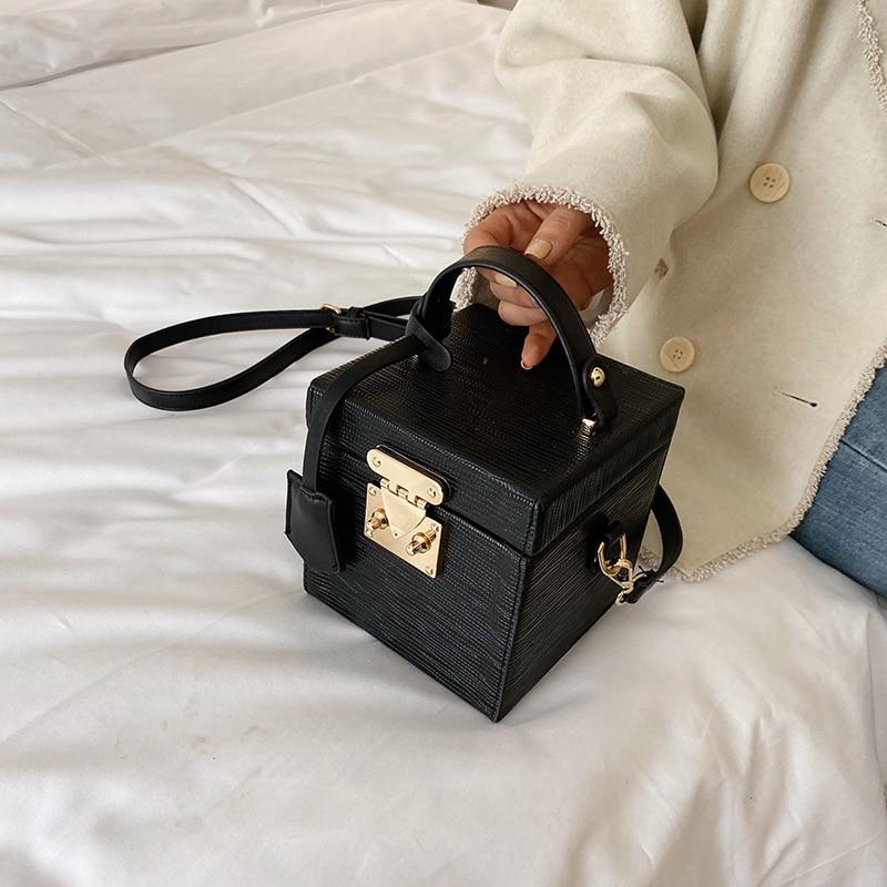Elegant Female Tote Flip Box Bag 2019 Fashion New High Quality PU Leather Women's Designer Handbag Lock Shoulder Messenger Bag