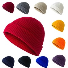 Stylish Warm Knitted ​Hat Casual Solid Color Circular Top Cap For Women And Men Autumn And Winter Retro Cute Tide Dome Hat Wild new men s hat in autumn and winter with warm cashmere set head cap hat riding ear muff knitted hat korean tide