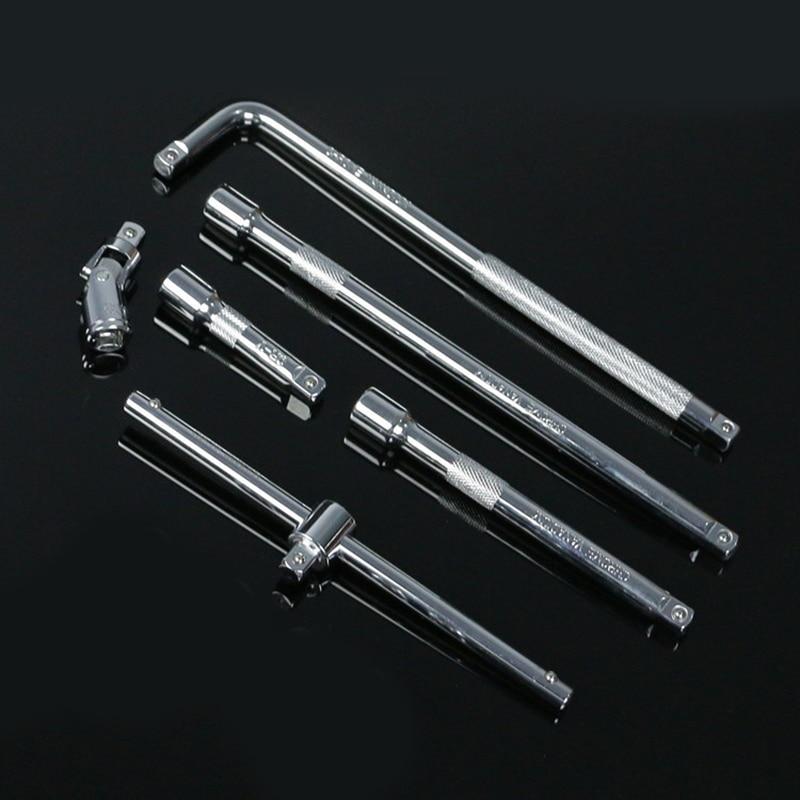 "3/8"" Drive Socket Ratchet Extension Bar Adapter Wrench Socket Tool L Type T Handle Sliding Bar 10mm Square Head|Sockets| |  - title="