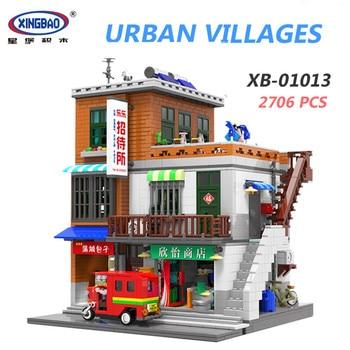 XINGBAO 01103 2706Pcs Creative MOC City Friends Series The Urban Village Set House Model Building Blocks Home Decoration Gifts
