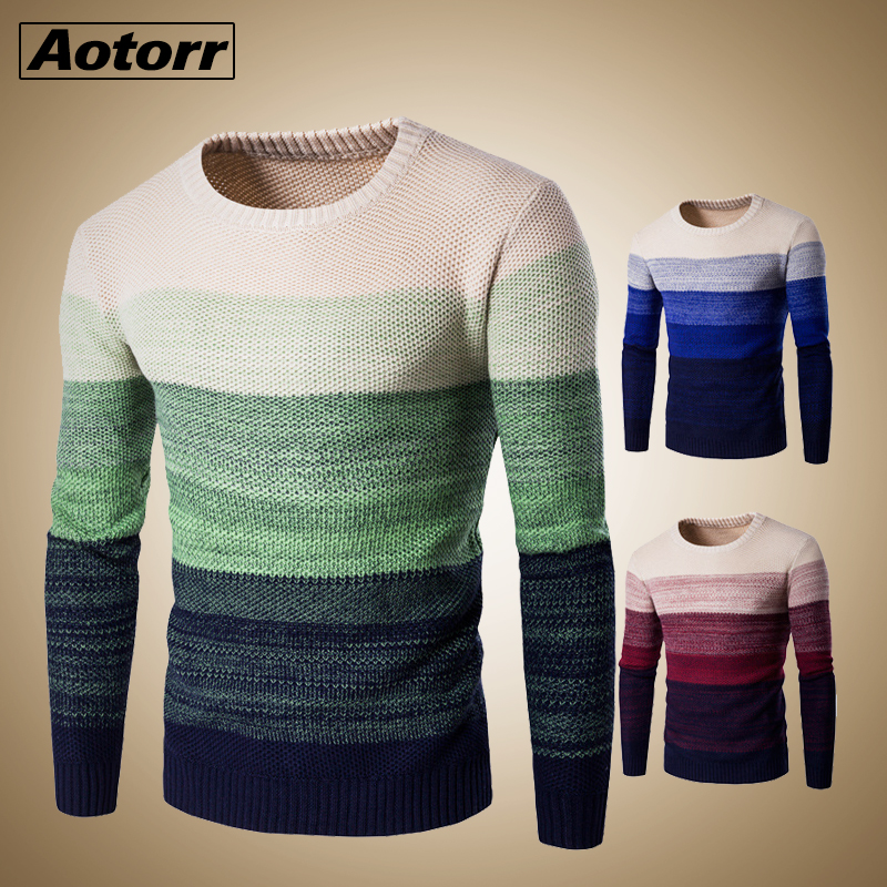 Men's sweater 2020 New Spring Autumn Fashion Casual Sweater O-Neck Slim Fit Knitting Men Pullover Long sleeve Sweater coat