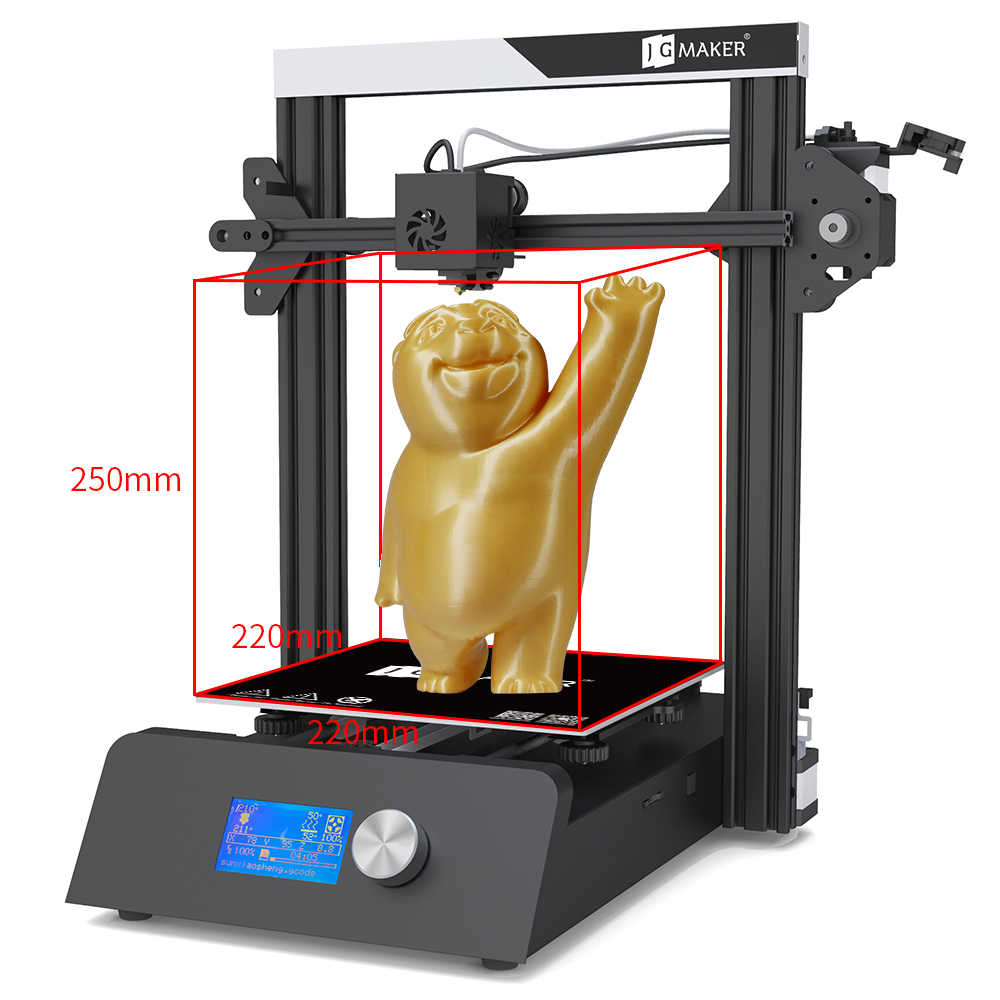JGAURORA 3D เครื่องพิมพ์ Al กรอบ DIY KIT สร้างขนาดใหญ่ขนาด 3D Drucker Resume Power Failure การพิมพ์ JGMaker