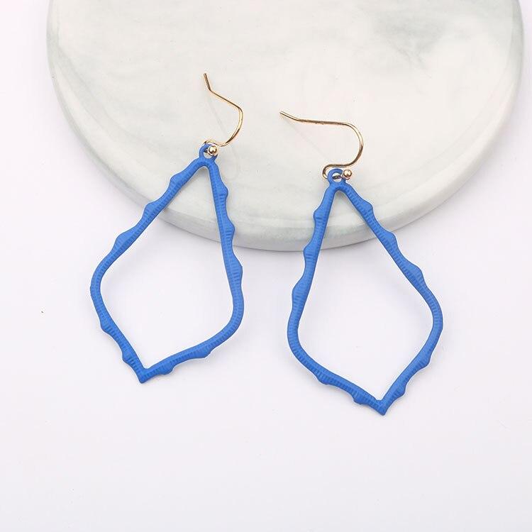 15 Colors Designer Frame Teardrop Earrings for Women Fashion Jewelry Painting Metal Water Drop Earrings Statement Earrings 10