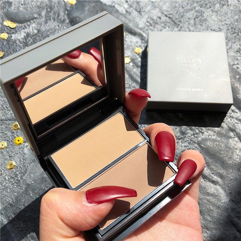 rosto maquiagem highlighter paleta shimmer contorno brilhante 04
