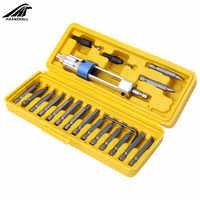 20 piezas de broca de medio tiempo taladro conductor de cabeza giratoria de cambio rápido de conducción reparación herramientas