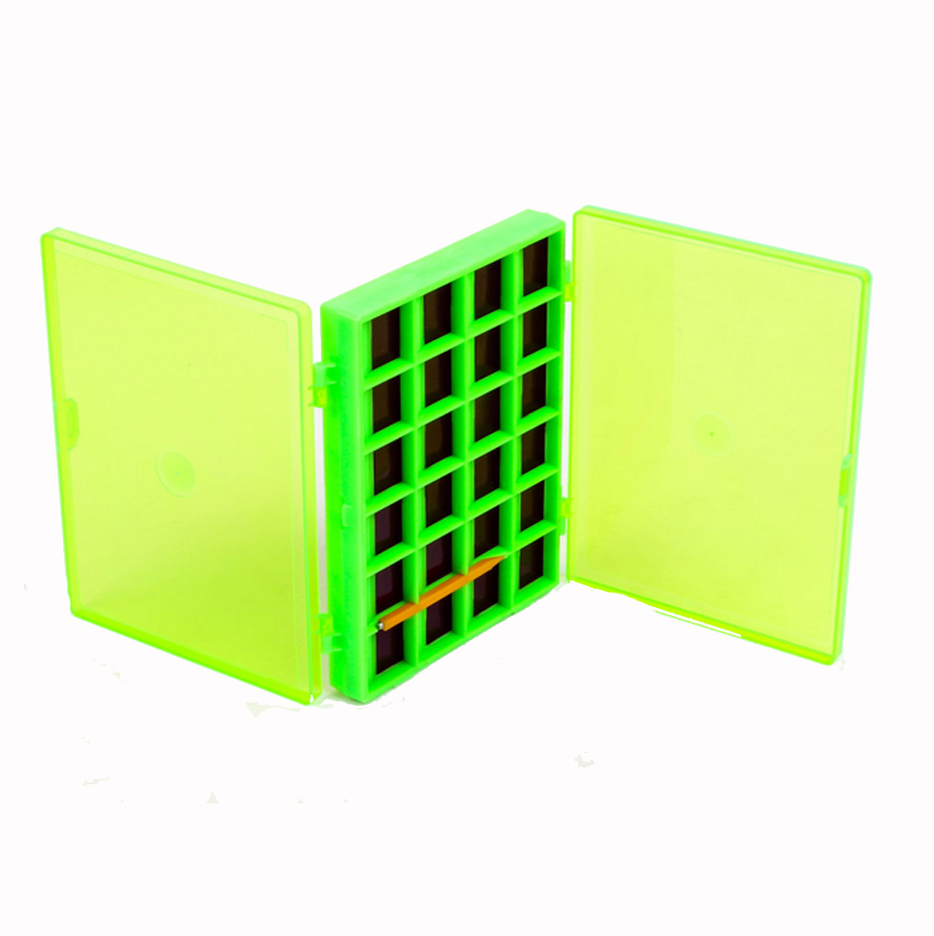 Fly Fishing Box Double Side Magnetic Fly Fishing Box Hooks Storage Case Holder with 44 Compartments Dropshipping Fishing Tackle Boxes     - title=