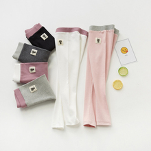 2020 Spring Girls Leggings Outfit Girls Warm Hit Color Cotton Trousers Pure Color Leggings For 3-10Years Old  Children Leggings fashion girl leggings pure color ballet dance cute cat print children leggings soft comfort girls legging 3 6 years old