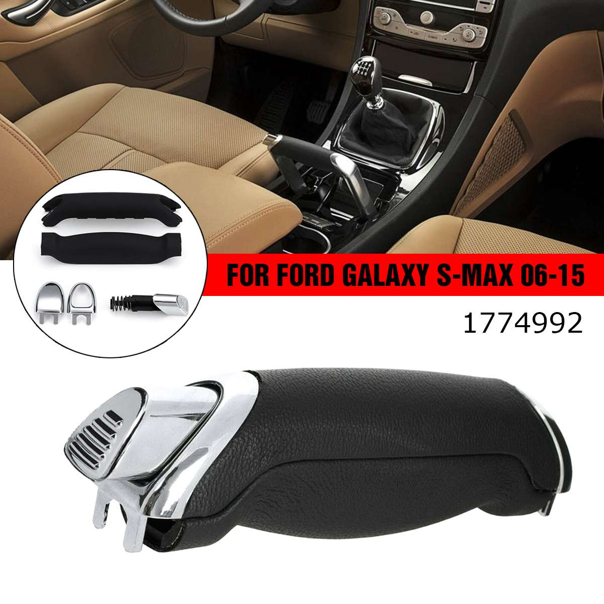 1 SET Car Easy Install Parking Handbrake Stop Handle Lever Kit For Ford For Galaxy For S-MAX 2006-2015 1774992 Car Accessories