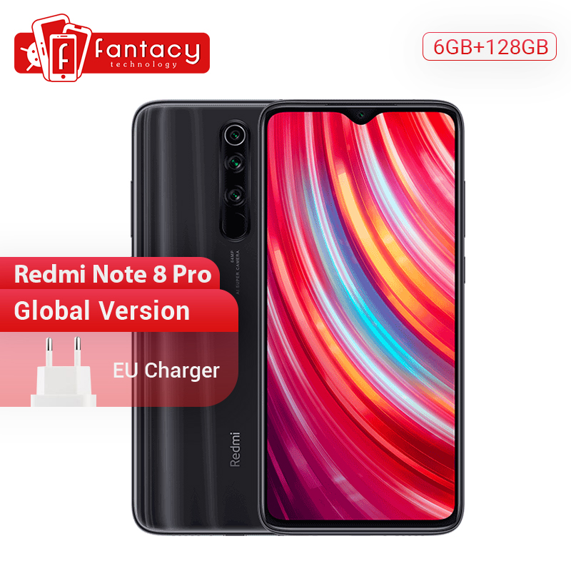 <font><b>Global</b></font> <font><b>Version</b></font> <font><b>Xiaomi</b></font> <font><b>Redmi</b></font> <font><b>Note</b></font> <font><b>8</b></font> <font><b>Pro</b></font> <font><b>6GB</b></font> RAM <font><b>128GB</b></font> ROM 64MP Quad Cameras MTK Helio G90T Smartphone 4500mAh 18W QC 3.0 UFS 2.1 image