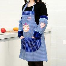 Красный мультяшный медведь водонепроницаемый кухонный набор для приготовления пищи для женщин фартук