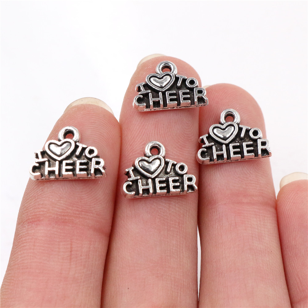 Reflection Beads Sterling Silver Cheerleader Bead 14 x 10 mm