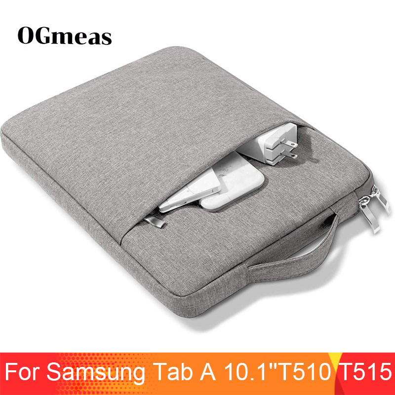 Handbag <font><b>Case</b></font> For <font><b>Samsung</b></font> Galaxy Tab A 10.1 SM <font><b>T510</b></font> T515 Tablet Bag Sleeve <font><b>Case</b></font> Tab a 10.1 Shockproof Multi Pockets Bag Capa image