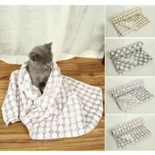 Пушистые длинные плюшевые одеяла для домашних животных, для собак, кошек, коврики для кровати, для глубокого сна, мягкие тонкие Чехлы для летних зимних кроватей, одеяла, матрац для кошек