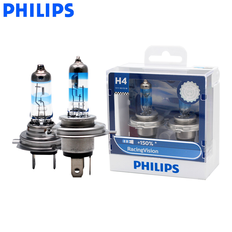 PHILIPS Racing Vision H4 H7 Car Headlight Bulb +150% Halogen Yellow 1650LM