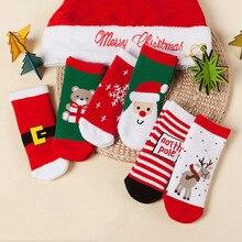 Christmas-Socks Winter for 1-8years Old Kids 1-Pair Gift Santa-Claus Autumn Children