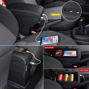Image 5 - For Opel Astra Armrest Box Opel Astra H Car Armrest 2011 interior refitting accessories Storage box USB Easy to install