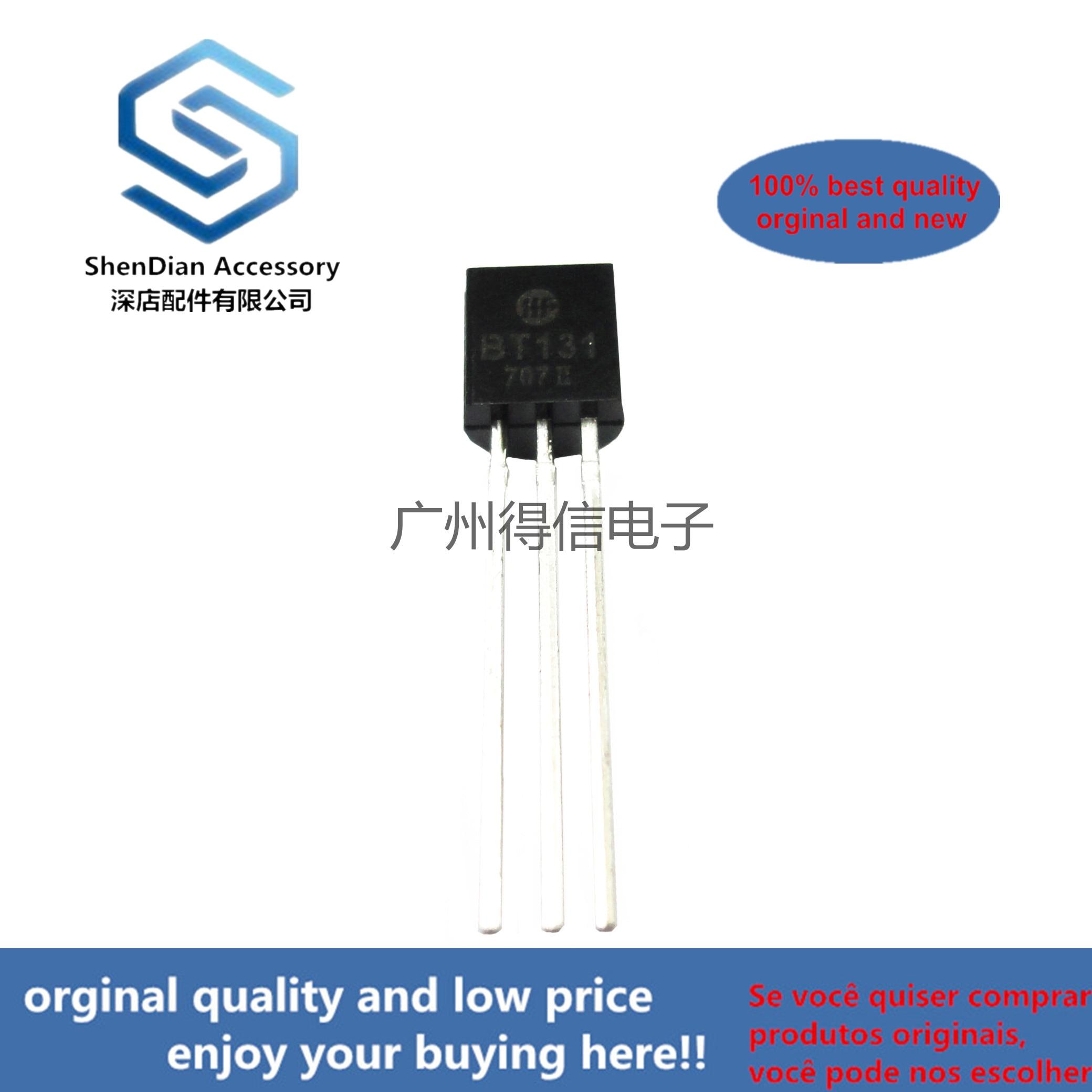 30pcs 100% Orginal New BT131-600 BT131 TO-92 Triacs Logic Level Real Photo