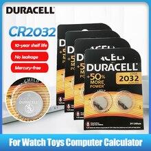 8 шт. 100% оригинальный литиевый Аккумулятор DURACELL CR2032 DL2032 DL/CR 2032 для игрушечных часов, пультов дистанционного управления, калькуляторов, кнопо...