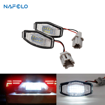 12V LED Car License Number Plate Light Lamp For Acura TL TSX MDX Honda Civic Accord Car Tail Light Assembly image
