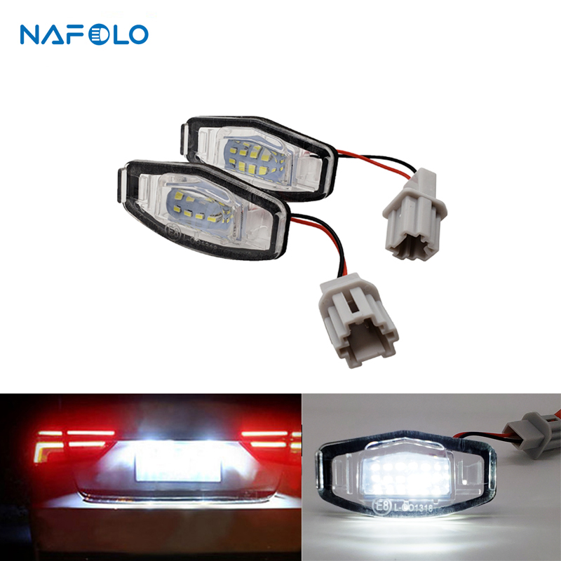 12V LED Car License Number Plate Light Lamp For <font><b>Acura</b></font> TL TSX <font><b>MDX</b></font> Honda Civic Accord Car Tail Light Assembly image