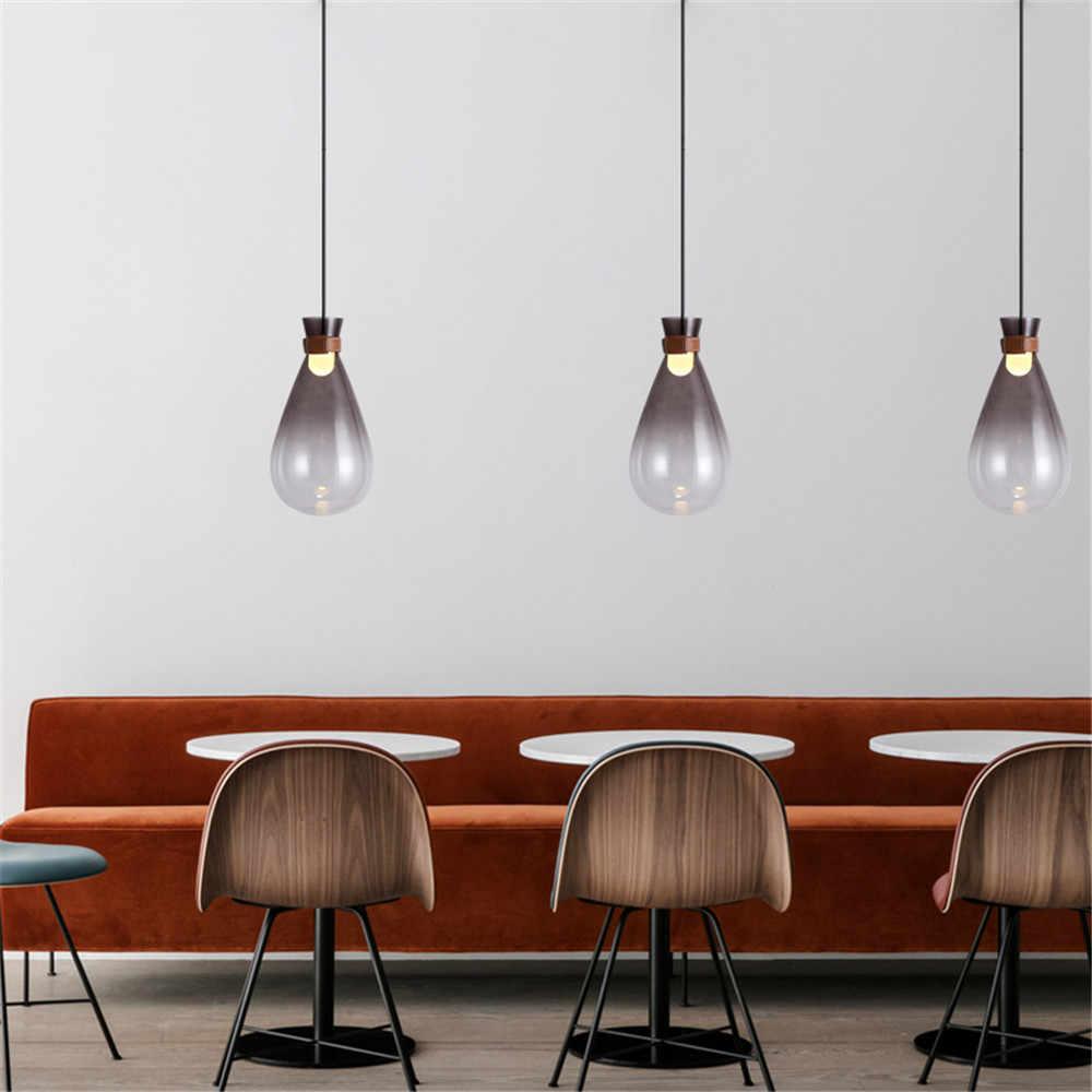 Скандинавский дизайн, современный светодиодный подвесной светильник для гостиной, столовой, бара, подвесной стеклянный светильник, декор в стиле лофт, домашние светильники