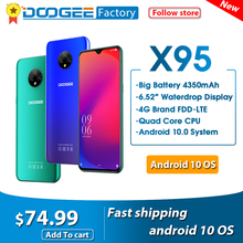 "DOOGEE X95 Android 10 cellulari 13MP fotocamera 6.52 ""Display cellulare MTK6737 2GB 16GB Dual SIM 4350mAh 4G LTE Smartphone"