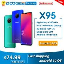 """DOOGEE X95 Android 10 cep telefonları 13MP kamera 6.52 """"ekran cep telefonu MTK6737 2GB 16GB çift SIM 4350mAh 4G LTE Smartphone"""