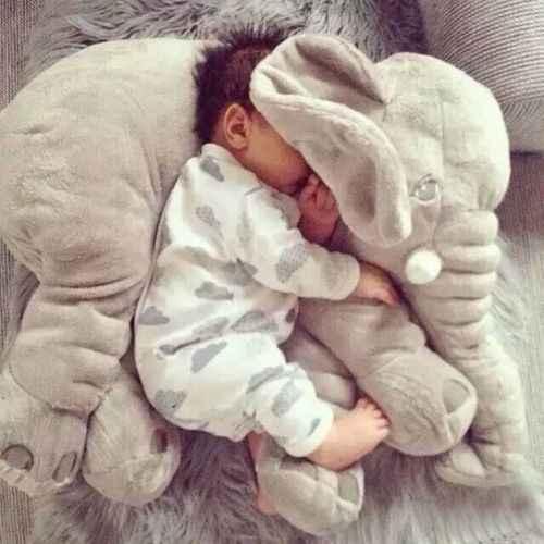 Almohada de muñeca de elefante de nariz larga suave de felpa almohada Lumbar de juguete para bebés niños cojín de nariz regalo