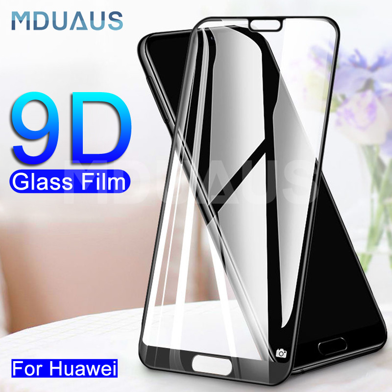 9D Full Cover Tempered Glass On For Huawei P20 Lite Pro Nova 5 5i 5T 4 4E 3 3i 3E P Smart Screen Protector Protective Glass Film