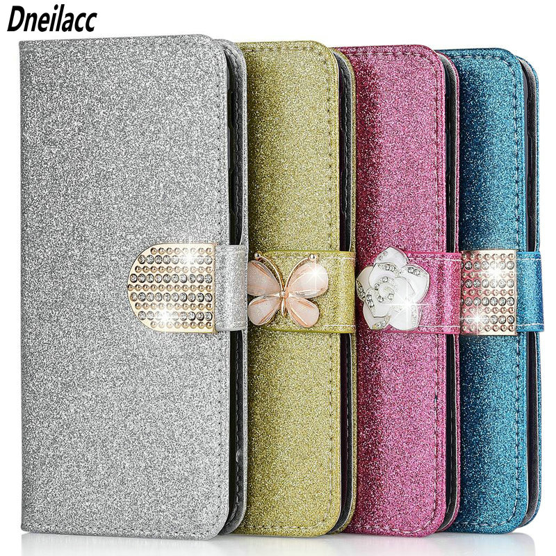 Leather Wallet Flip Bling Phone Cases For <font><b>Samsung</b></font> Galaxy A10 A40 <font><b>A50</b></font> M10 A2 Core A6 A8 J8 J4 Plus 2018 <font><b>Back</b></font> <font><b>Cover</b></font> image