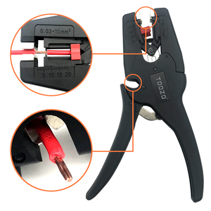 Image 2 - High quality automatic adjustment wire stripper cable cutter pliers wire stripping range 0.03 10mm2 hand tool alicates