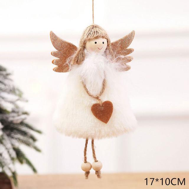 New Year 2020 Cute Santa Claus/Snowman/Angel Christmas Dolls Noel Christmas Tree Decoration for Home Xmas Navidad 2019 Kids Gift 172