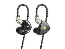 AUGLAMOUR T100 Graphene Coaxial Dual Dynamic Driver 2Pin 0.78mm HiFi In ear Earphone with Mic
